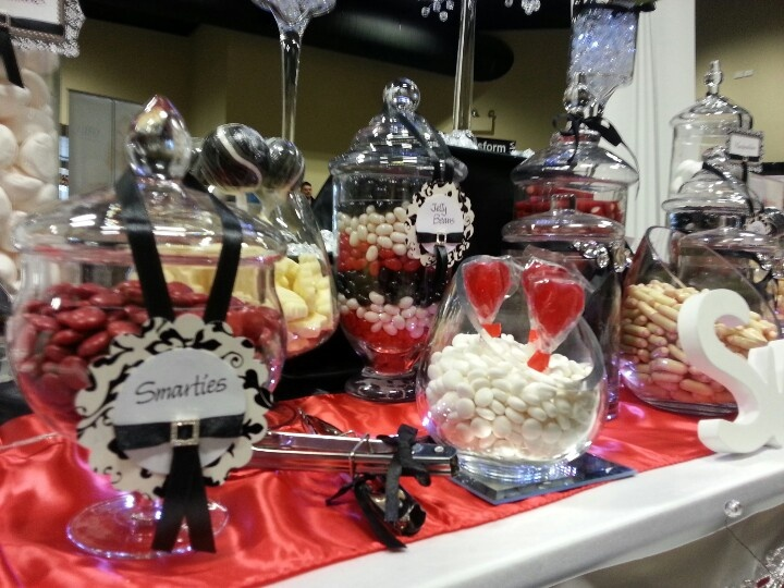 Black and red lolly buffet