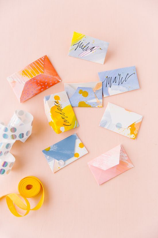 Painted DIY Envelopes in Various Sizes (from Scratch)