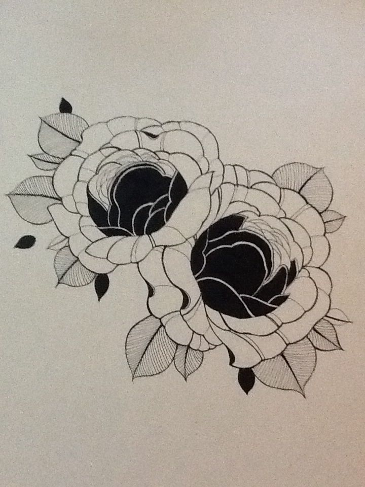 rose tattoo drawing
