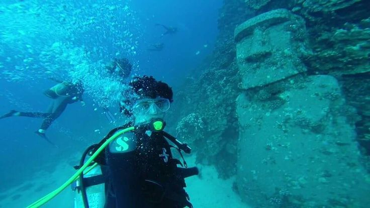Easter Island scuba diving to find the moai head -  Easter Island Chile