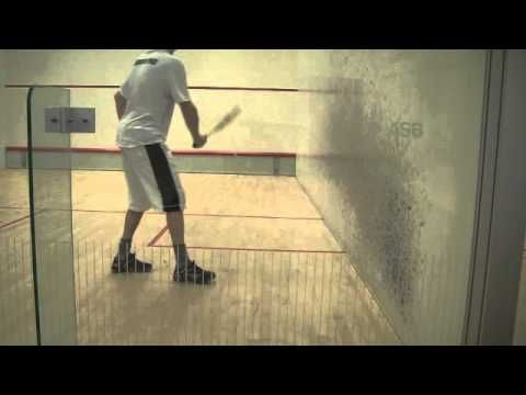 Squash Solodrill 3: improve your deep backwall shots using a bouncier ball - YouTube