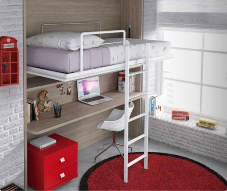 Mejores 7 im genes de camas abatibles en pinterest cama for Catalogos habitaciones juveniles precios