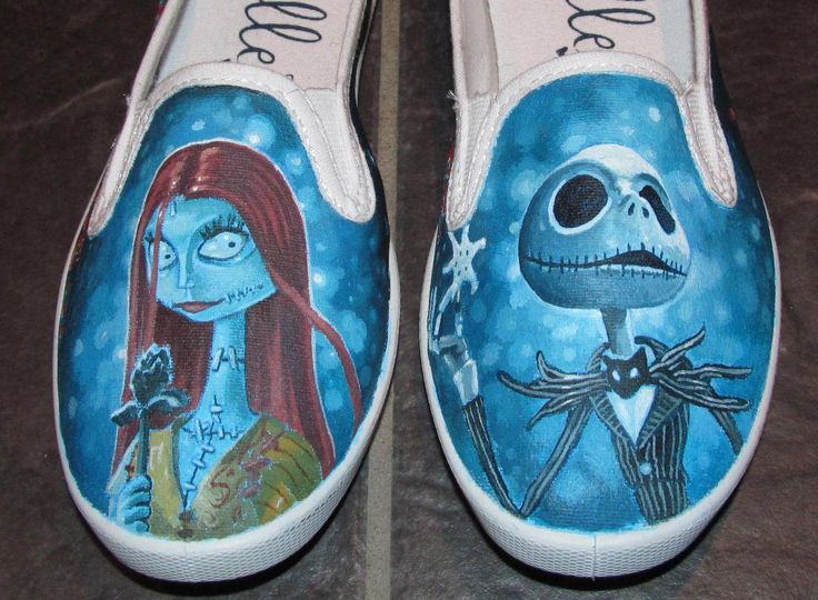 Nightmare Before Christmas hand-painted shoes