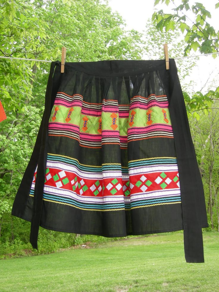 Seminole patchwork apron. Won't get dirty making sofkee...