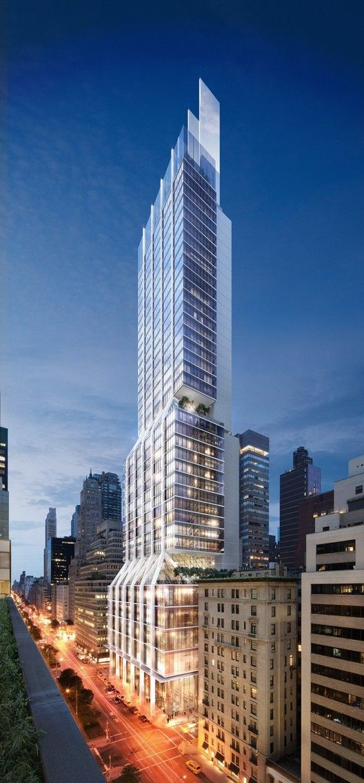 Foster + Partners Break Ground on 425 Park Avenue,425 Park Avenue, Facing NE on Park Avenue. Image © DBOX for Foster + Partners