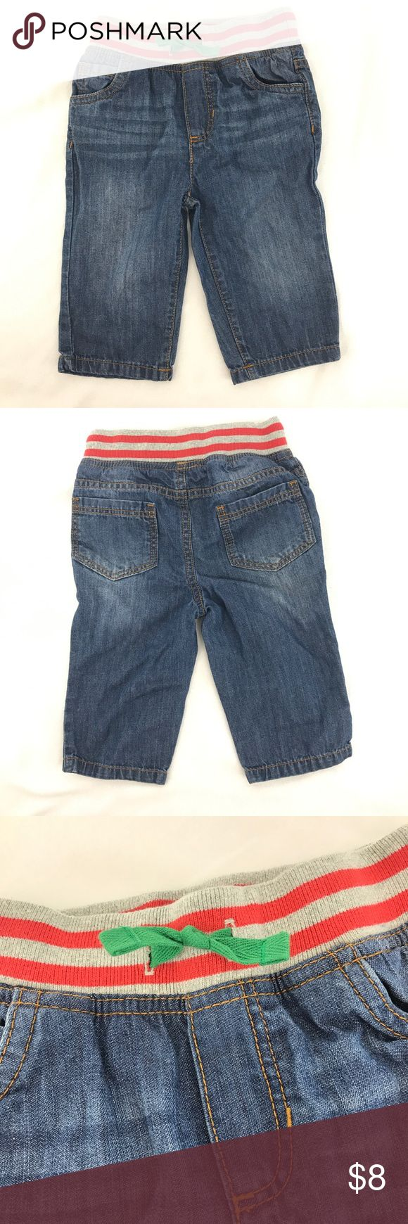 Baby Boden Boys 12-18 Mo Pull on Pants Jeans Baby Boden Boy's pull on pants/lightweight jeans * 12-18 months * 100% cotton * Gently used with no flaws found Boden Bottoms Jeans