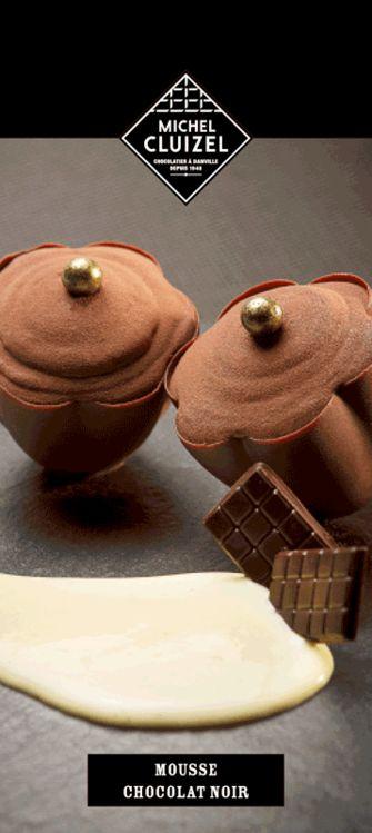 recette de la mousse au chocolat noir michel cluizel my style pinterest mousse best. Black Bedroom Furniture Sets. Home Design Ideas