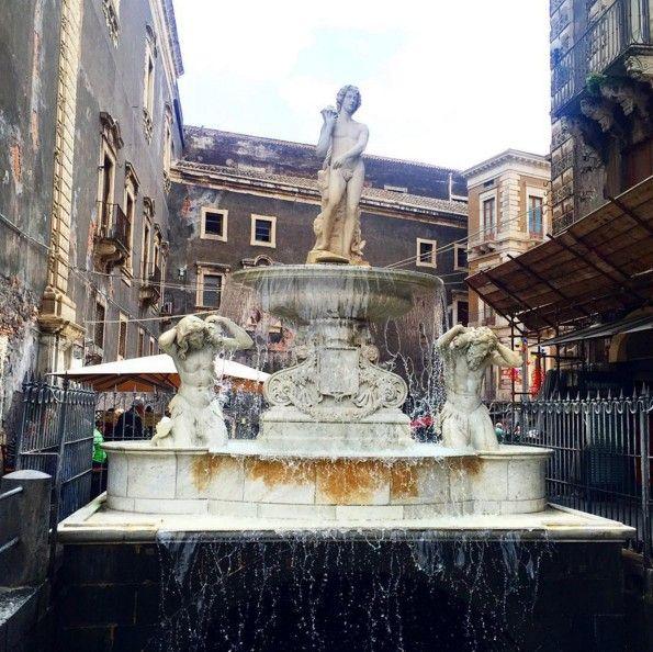 Fontana dell'Amenano in Catania