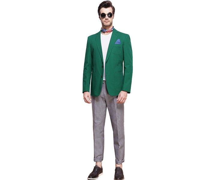 Jade Green and Grey designer suits for mens fashion clothing wholesale