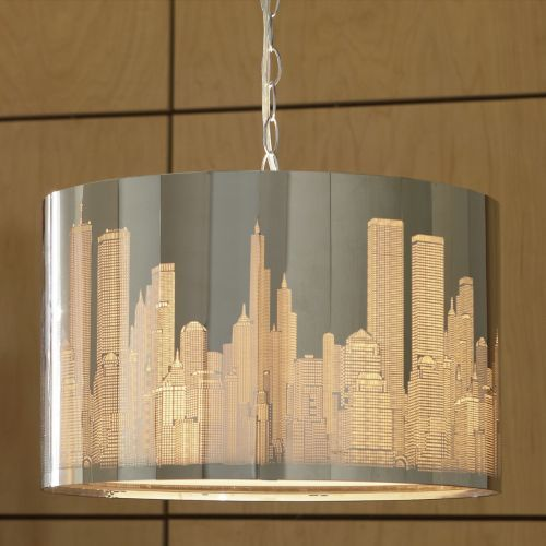 Cityscape Hanging Lamp From Midnight Velvet Create Your Own Glittering City Skyline Every Evening When