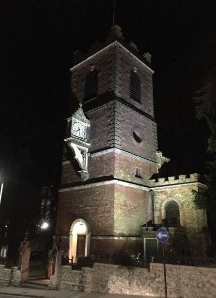 We will be lighting the top of St Peter's Church on North Hill.  The church is a focal point along the route and will work with the other wayfinding elements to guide visitors to the town centre.