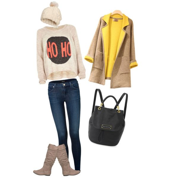 A fashion look from December 2014 featuring River Island sweaters, J Brand jeans and H&M hats. Browse and shop related looks.