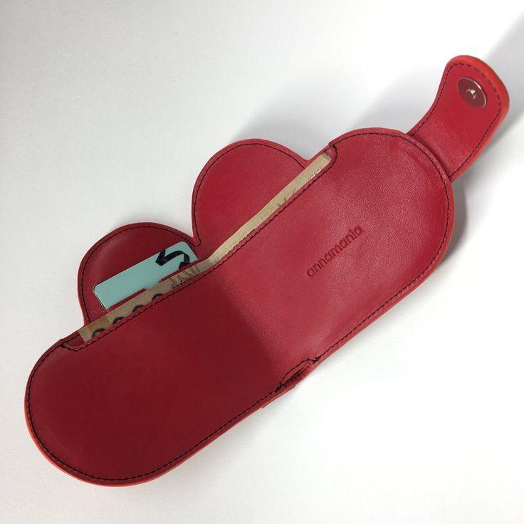 Image of RÓKASZÍV | piros bőr pénztárca
