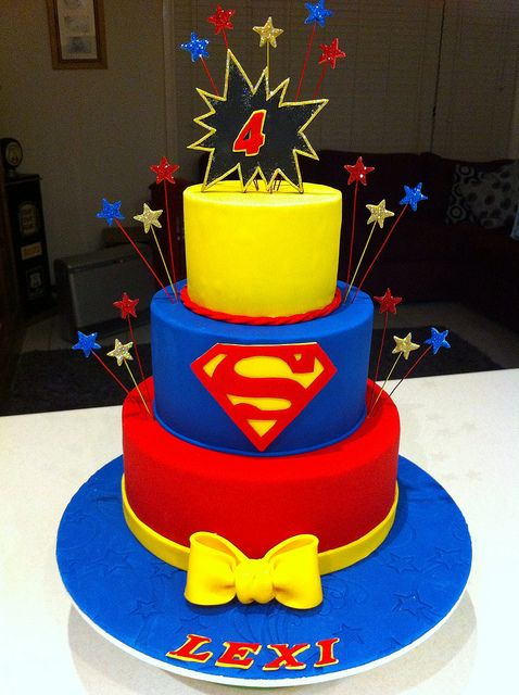 Super Hero Cake / Super Girl Cake | Flickr - Photo Sharing!