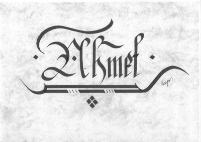 #ahmet #a   👍  | ➡  | 📝    🔹 https://facebook.com /rayankalligraphie 🔸 http://rayankalligraphie.de      #kalligrafi #kalligraphie #kalligrafie #calligraphy #callygraphie #art #sanat #kunst #budageceryahu #rayankalligraphie #moderncalligraphy #brushcalligraphy #calligraphyph #calligraphyart #arabicCalligraphy #calligraphymasters