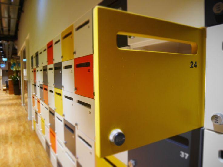 Lockers, office, office space, employee lockers, creative office , Hot desk lockers by ATEPAA