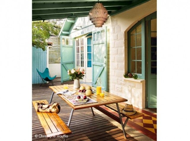 Terrasse salonjardin vintage