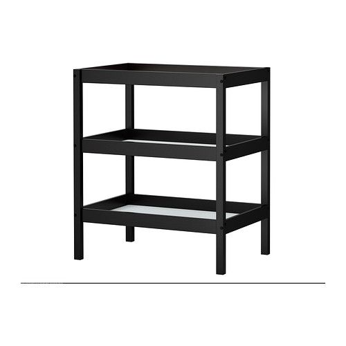 IKEA SUNDVIK Changing Table, Black Brown Black By IKEA.