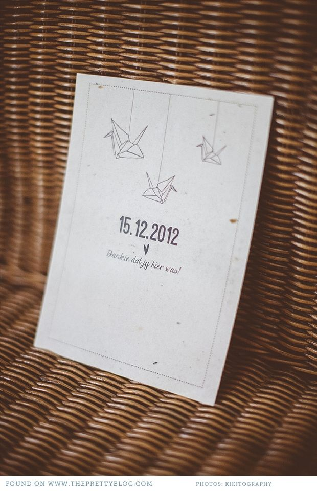 Wedding stationery with origami birds | Photography: Kikitography, Stationery: Wednesday and October
