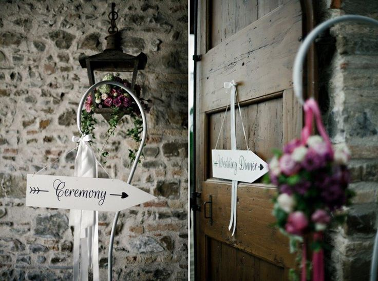 Schild Ceremony für eine Hochzeit