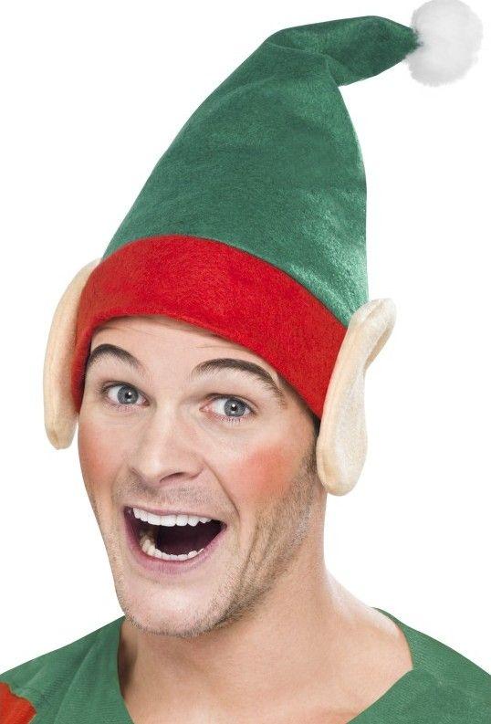 Cappello da elfo di natale con orecchie adulto