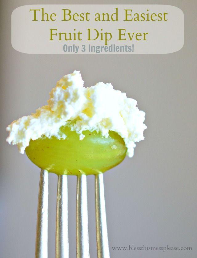 3 ingredient fruit dip, cream cheese fruit dip, fruit dip with marshmallow fluff
