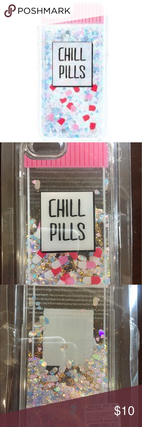 Take a chill pill ! Glittery IPhone 6/6s NWT TAKE A CHILL PILL IPHONE 6/6s PHONE CASE TURN UPSIDE DOWN AND THE GLITTER FALLS ! SUPER CUTE ! BUNDLE 2 OR MORE ITEMS FOR 20% OFF ( NOT PINK BRAND) FREE GWP PINK Victoria's Secret Accessories Phone Cases
