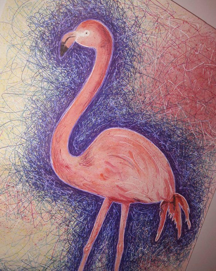 картинки карандашом фламинго средние часть останкинской