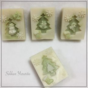 ☆*アボカドオイルの クリスマスソープです☆*:.。.。 #handmadesoap #手作り石けん教室 #千葉 #船橋#手作り石けん #手作り石鹸 #christmas #handmade