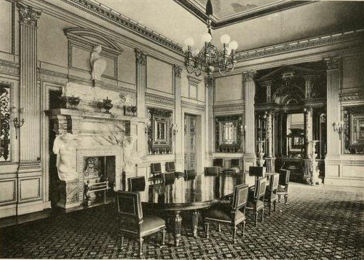 The dining room in dorchester house edwardian interiors Old home interior pictures value