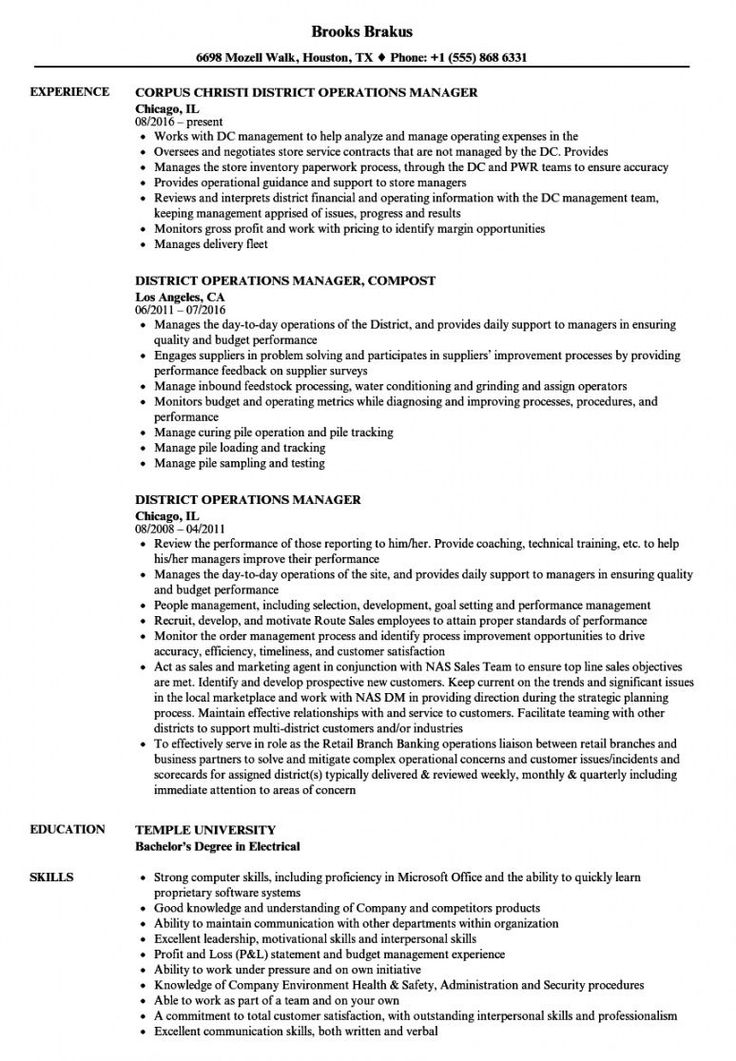 Browse our example of operations director job description