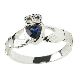 Celtic Claddagh Birthstone Ring