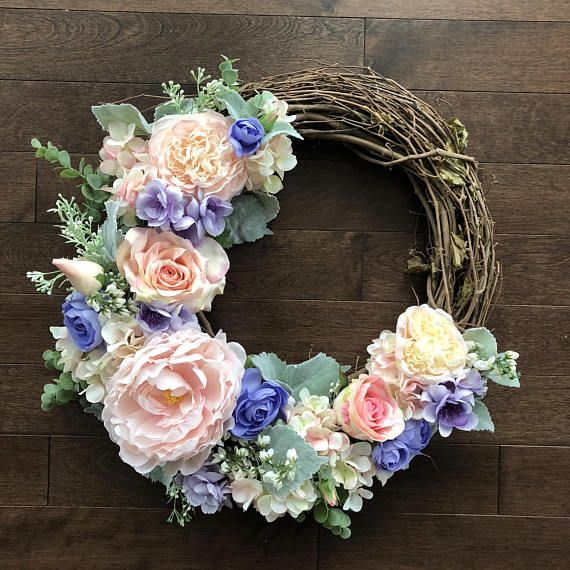 Elegant Spring Wreath Front Door, Size 18 Inches, Mothers Day Gift For Grandma,  Outdoor Spring Wreath, Door Wreath, Housewarming Gift First Home Awesome Design