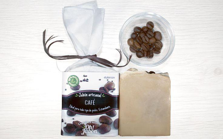 Jabón artesanal de café. Ideal para todo tipo de pieles. Estimulante.