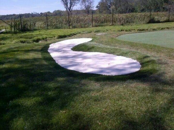Backyard Sand Bunker : Sand bunker installed by Krevitz Golf Turf Solutions