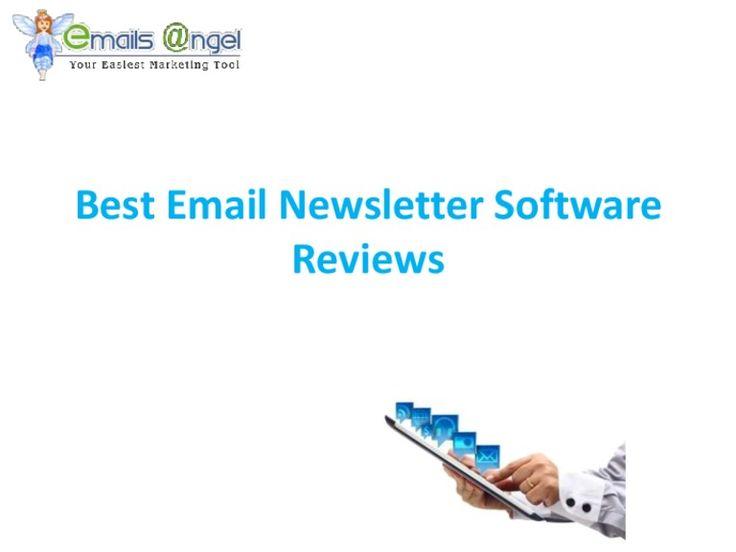 Smart-email-newsletter-software-reviews by Emails Angel via Slideshare