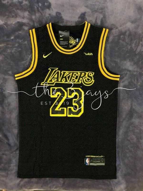 Nwt Lebron James 23 Los Angeles Lakers Men S Black Mamba Basketball Jersey In 2020 Los Angeles Lakers Los Angeles Lakers Players Basketball Jersey
