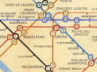 Paris Metro by Harry Beck