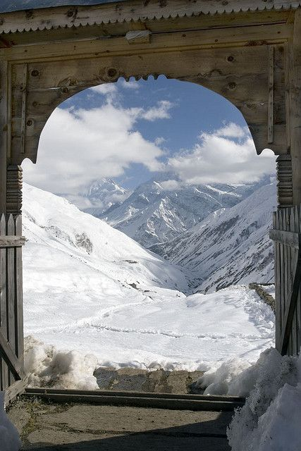 View from Yak Kharka, Himalayas