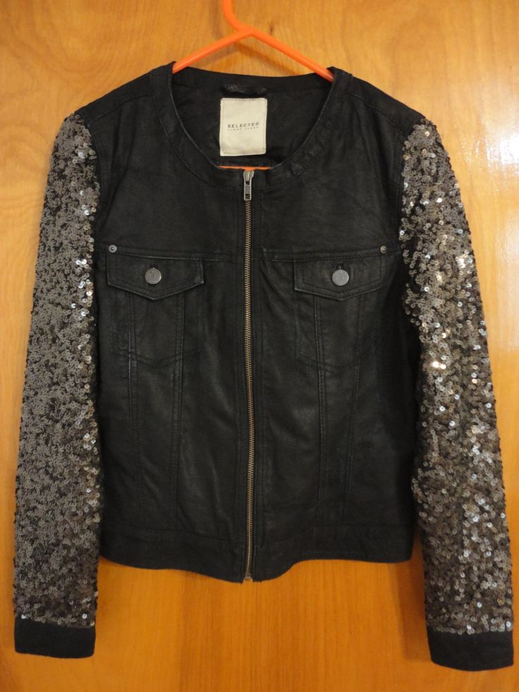 Selected Sequin Leather Jacket