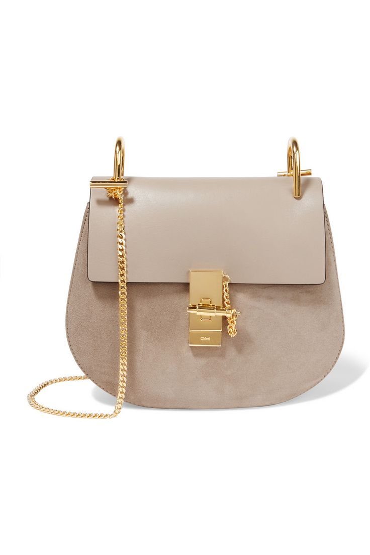 Chloé Drew Small Leather And Suede Shoulder Bag Net A Porter