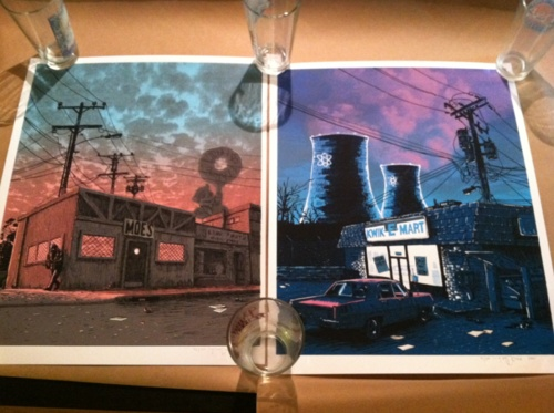 just got my TIM DOYLE simpsons prints. perfectly packaged from Spoke Art. They look so good. So happy. and broke…