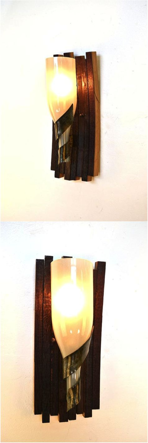 For home decor you can humble brag about, look no further than these rustic yet modern sconce lights. Made from upcycled wine barrels, these are lights that will actually be fun to tell your guests about.  | Made on Hatch.co by designers & makers who care.