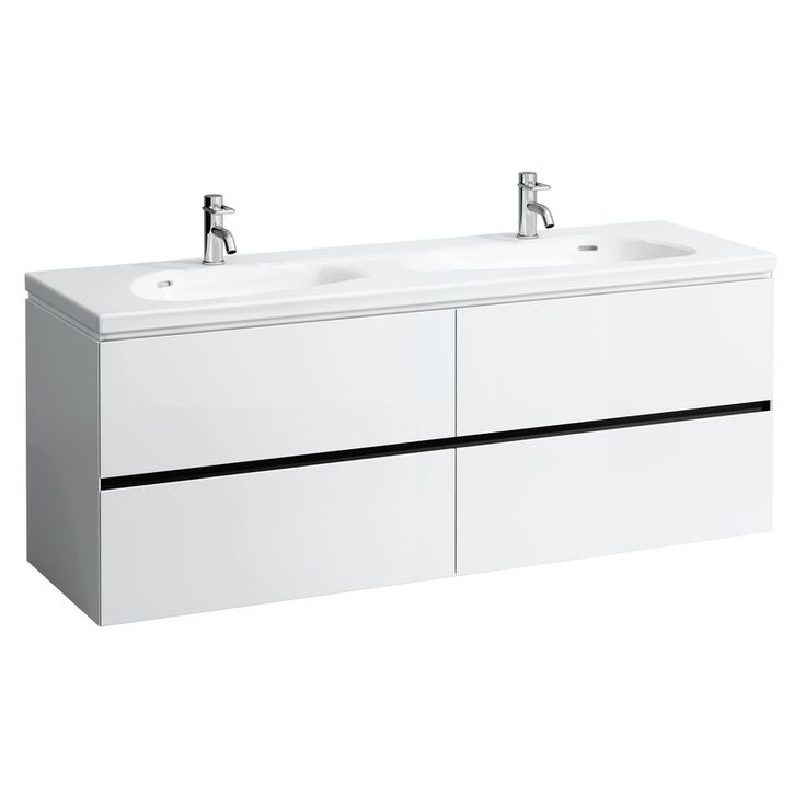 Countertop double washbasin | LAUFEN Bathrooms