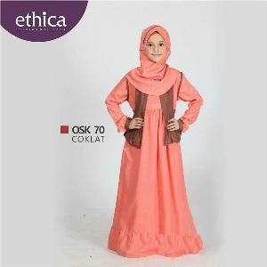 Baju Gamis Anak Ethica OSK 70 Coklat - Promo Ramadhan