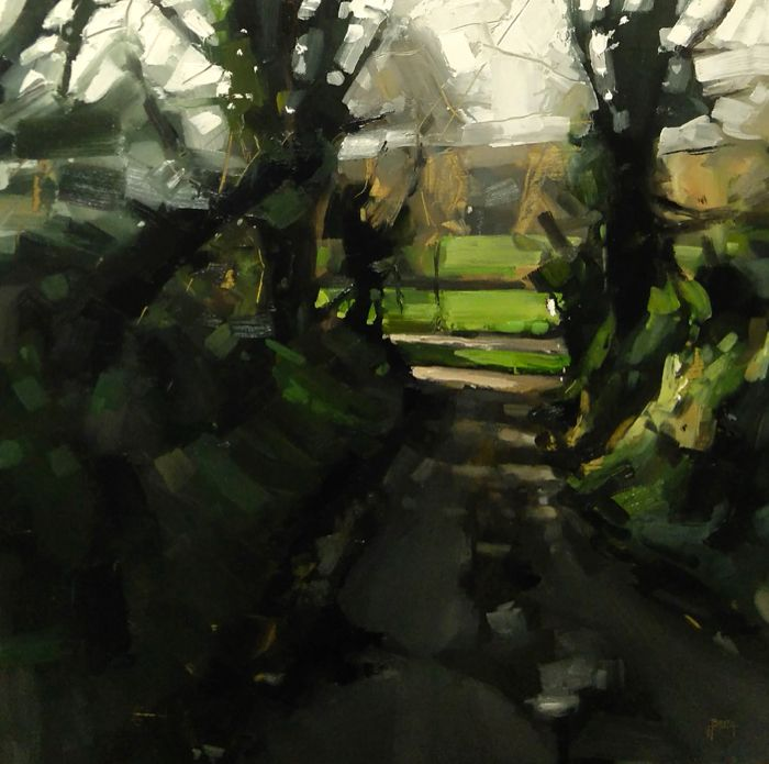 Bottom of Codden Hill (50 x 50 cm) oil on board