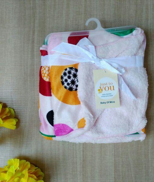 Selimut Bayi Just To You Double Fleece Big Zinnia Soft Pink,90rb.Wa 081322671779.