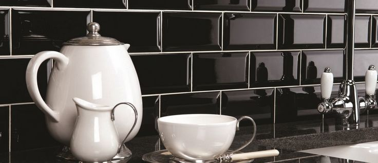 Mini Metro Black Our best selling Metro range are also available in a smaller size called Mini Metro. These are available in cream, red, white and black. This contemporary Mini Metro tile is ideal for kitchens and bathrooms. The new thin rectangle size gives a narrow room a wider feel