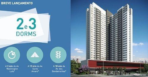 Quadra Vila Mascote - Apartamentos de 49m² á 69m² - 1 ou 3 Dormitórios na Rua Djalma Pinheiro Franco, 829 - Zona Sul de São Paulo - SP --Preço a partir de: R$ A definir