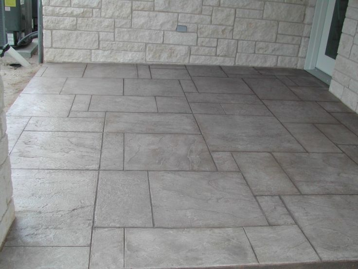 concrete exterior flooring ideas:cute stamped concrete patio floorhmmm not a bad idea  outdoor living